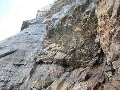 Rock Climbing Photo: The alcove belay. From here we climbed four pitche...