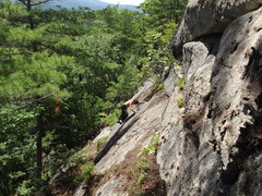 Rock Climbing Photo: Jon on the second slab