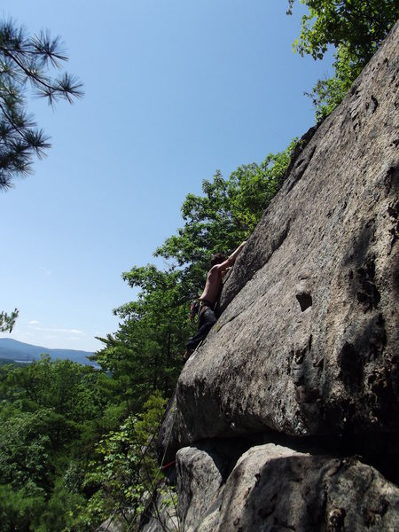 Rock Climbing Photo: Jon post crux