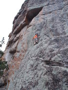 "Rock Climbing Photo: Garrett Gillest on ""Exit Stage Right"" at..."