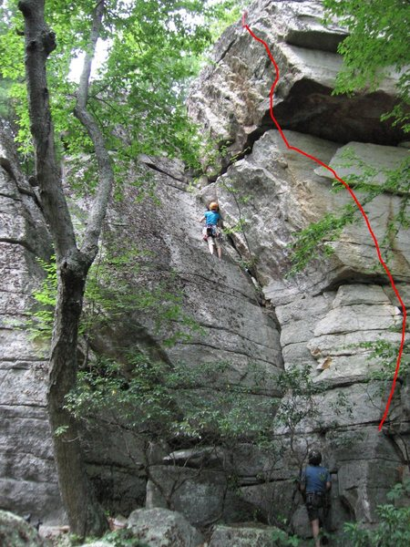 Rock Climbing Photo: Red line is Benny Goodman.