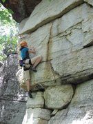 Rock Climbing Photo: Kathy on the lower face (5.7) of Benny Goodman
