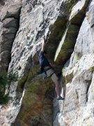 Rock Climbing Photo: Clifford Rylands demonstrating the roof sequence: ...