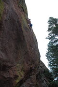 Rock Climbing Photo: Paul above the steep and crimpy face.