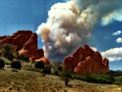 Rock Climbing Photo: Wildfire in Waldo.