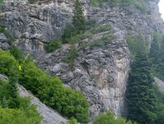 Rock Climbing Photo: Avalanche Buttress  Route shown: 1. Contusion Dwel...