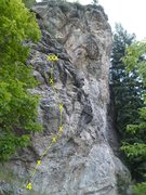 Rock Climbing Photo: Unknown (looks 5.12-ish, short, thin, and steep)