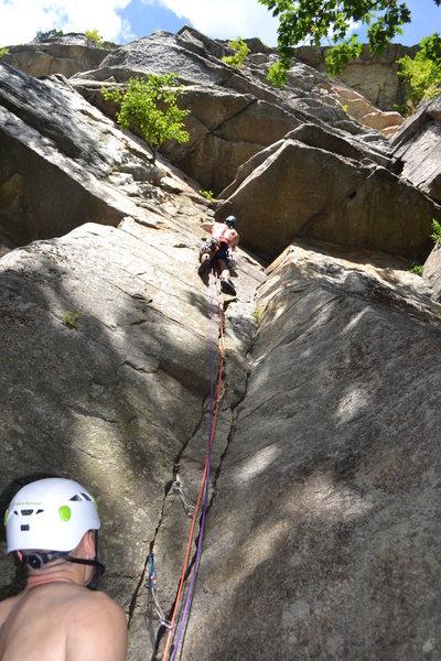 Rock Climbing Photo: start of Grand Central