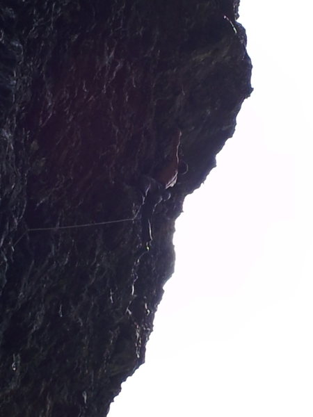 Rock Climbing Photo: Poor close-up of the upper crux.