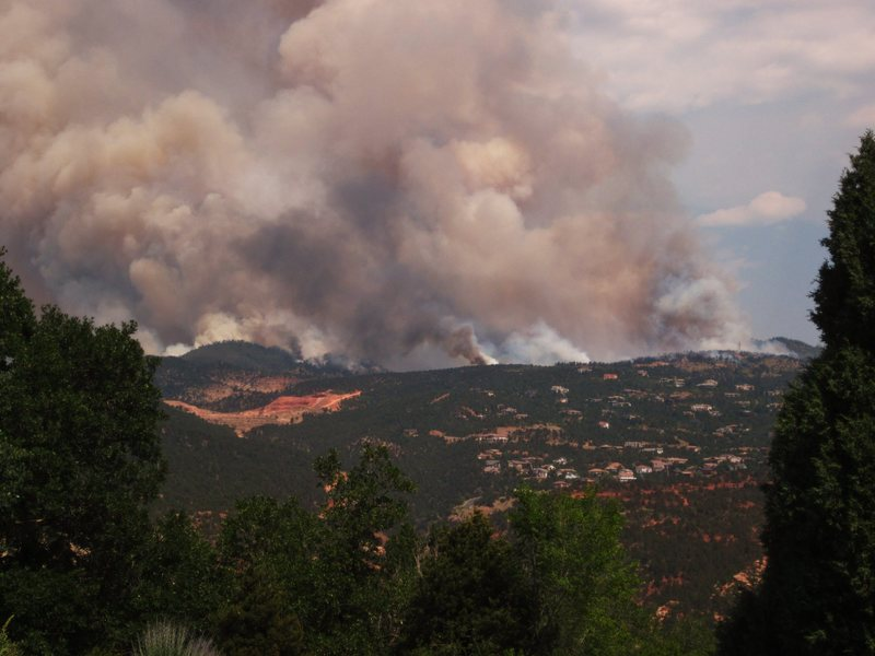 Rock Climbing Photo: The Waldo fire from my house in Manitou Springs.