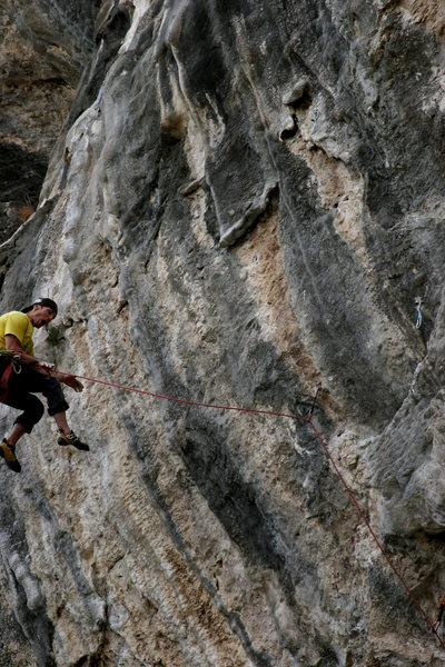 Boulder, Co local Curt MacNeill taking the whip on Nemo 13b after skipping 2 bolts from being too pumped!