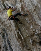Rock Climbing Photo: Boulder, Co local Curt MacNeill entering the upper...
