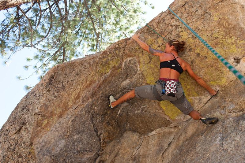 Rock Climbing Photo: Alison on Powder Keg