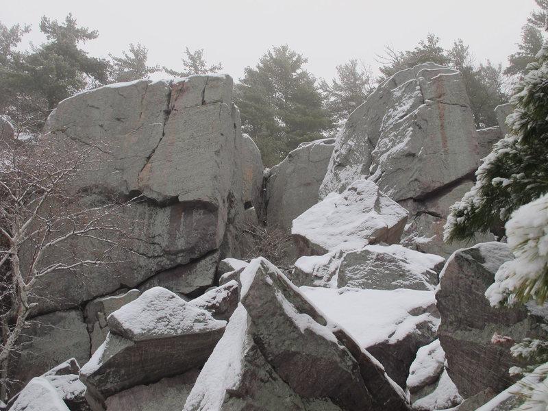 "Rock Climbing Photo: ""The Monolith"" in Winter"