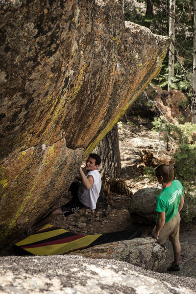 Rock Climbing Photo: Mean Leaner V7, The Fins