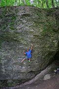 Rock Climbing Photo: A friendly local was bouldering on this problem. G...