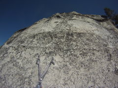 Rock Climbing Photo: Same mantle from below the anchor - it's pretty in...