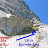 """The roof on pitch 13 with """"The Gap."""""""
