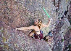 Rock Climbing Photo: Stars Wars in Eldo.