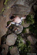 Rock Climbing Photo: Stemming, stemming, and more stemming. Photo by Da...