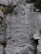 Rock Climbing Photo: Bolt streaks, Northern Arizona limestone