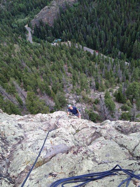 Rock Climbing Photo: Richard Wright put up this moderate warm-up climb,...