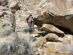 Rock Climbing Photo: Helen Shull on Handle Bars V3 sit start.