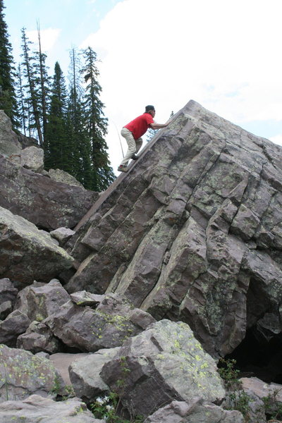 Rock Climbing Photo: slab boulder!