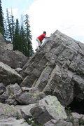 Rock Climbing Photo: slab boulder!