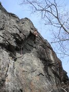 Rock Climbing Photo: the stemming beta at the Crux