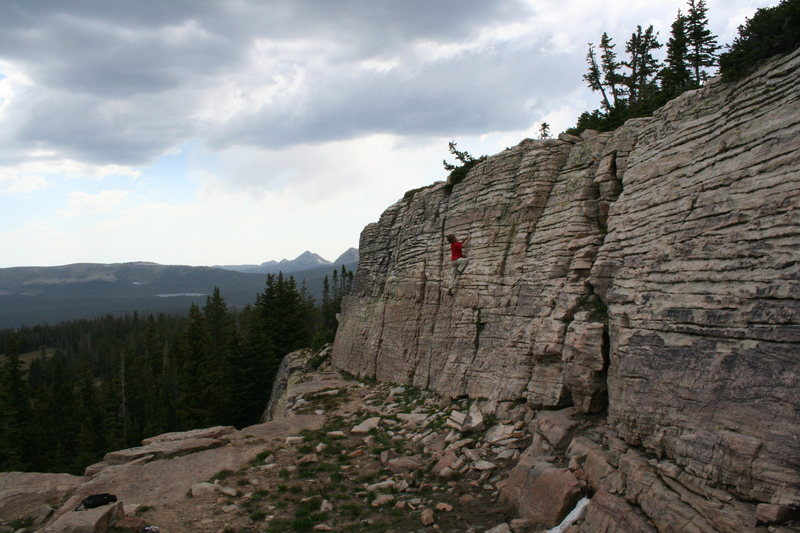 lookout crag 10,759 ft high uintas<br>