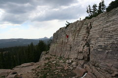 Rock Climbing Photo: lookout crag 10,759 ft high uintas
