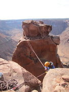 Rock Climbing Photo: The last pitch goes up the right side with the big...