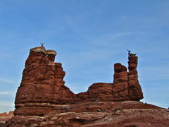Rock Climbing Photo: U tower to the left and Y tower to the right.  Mat...