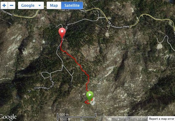 Rock Climbing Photo: Used Garmin to track our route back from Tall Wall