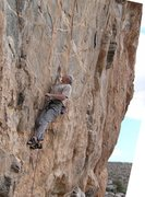 Rock Climbing Photo: 2nd crux on STORMING as it was done before IAN rip...
