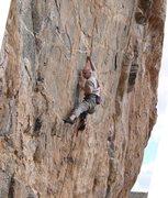 Rock Climbing Photo: finish of 2nd crux.