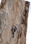 """Rock Climbing Photo: Into the """"pump zone"""" above the 2nd crux ..."""