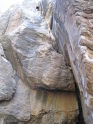 Rock Climbing Photo: Jolt Train is the off-width corner.