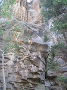 Rock Climbing Photo: The start of Southern Exposure. The crack start to...