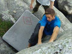 Rock Climbing Photo: sending