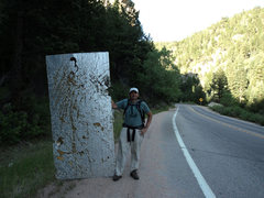 Rock Climbing Photo: Found at the base of the Upper Tier.  It is an 8'x...