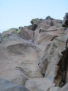 Rock Climbing Photo: Follow the nice finger crack.