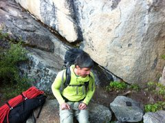 Rock Climbing Photo: New Bench and cleared out area at base of PCT Crac...