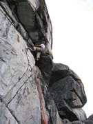 Rock Climbing Photo: Dan Seeliger moving into the hand crack and around...