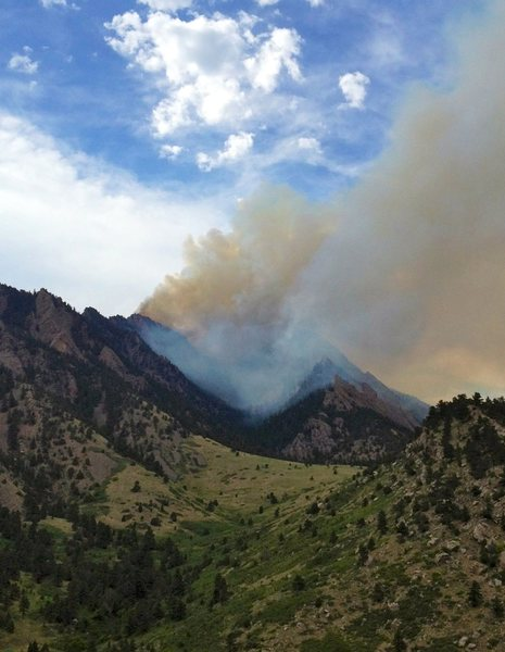 Rock Climbing Photo: Shadow canyon smouldering at about 5pm.