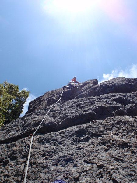 Paul nearing the top of Kola