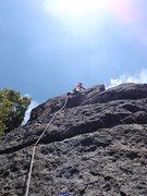Rock Climbing Photo: Paul nearing the top of Kola