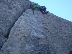 Rock Climbing Photo: Julia gets it