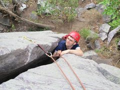 Rock Climbing Photo: Small gear works, but big gear would have been bet...